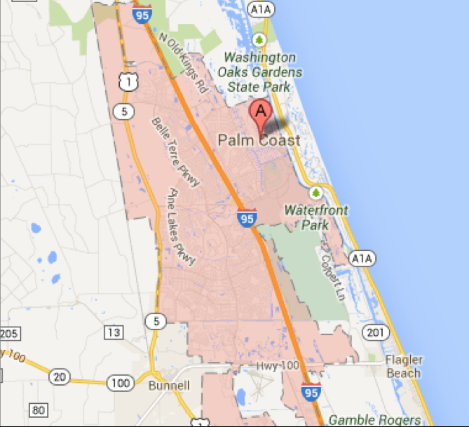 Map Of Palm Coast Florida.Palm Coast Scattered Lot Map Dykes Everett
